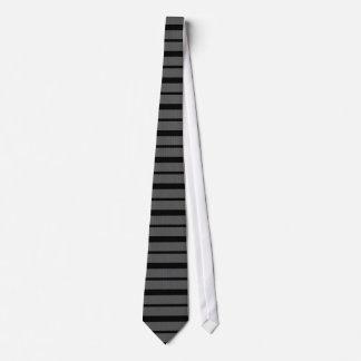 Laço cinzento da listra do preto do teste padrão gravata