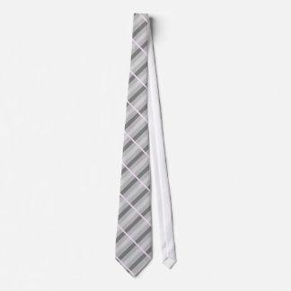 Laço cinzento/rosa listrado gravata