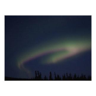 Laço da aurora boreal arte de fotos