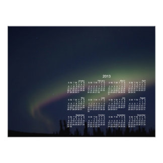 Laço da aurora boreal; Calendário 2013 Fotografia