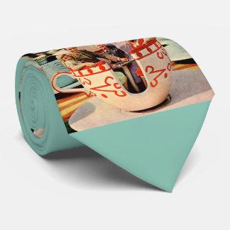 laço da novidade do passeio do teacup do parque de gravata
