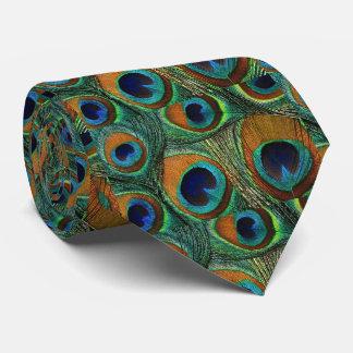 Laço da pena do pavão dos homens, roxo do verde da gravata