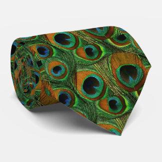 Laço da pena do pavão dos homens, verde roxo da gravata