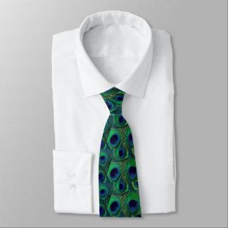 Laço da pena do pavão - roxo verde dos azuis gravata