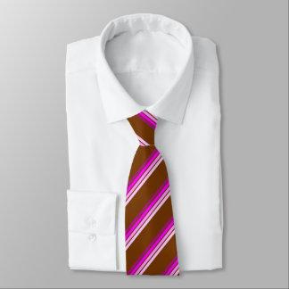 Laço de Brown com listras Pinkish Gravata