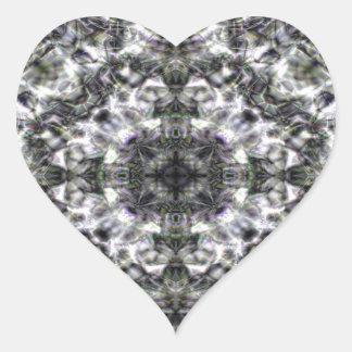 Laço de prata adesivo coração