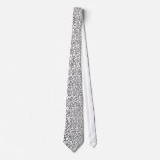 Laço do alfabeto gravata