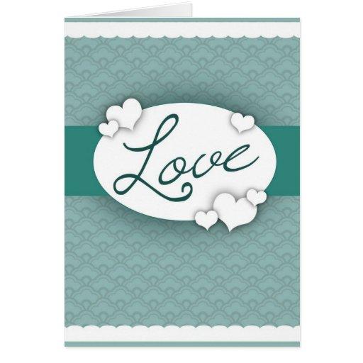 Laço do amor cartao