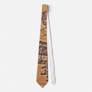 Laço do avião da aviação do vintage gravata