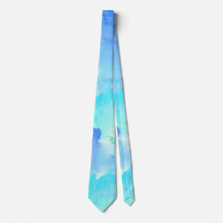 Laço do azul e do pescoço do olhar da aguarela de gravata