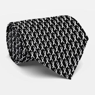 Laço do câncer pulmonar gravata