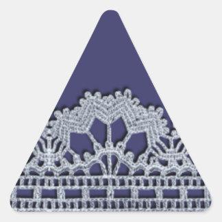 Laço do Crochet Adesivo Em Forma De Triângulo