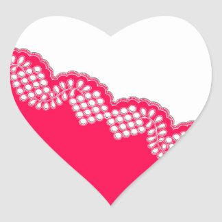 Laço do Crochet Adesivo Em Forma De Coração