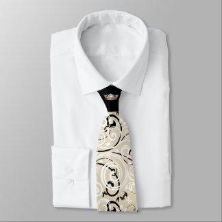 Laço do impressão do rolo da coroa do ouro da gravata
