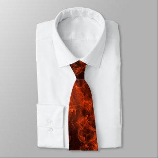 Laço do pescoço da chama do bombeiro gravata