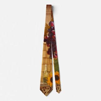 Laço do tema do vinhedo ou do vinho gravata