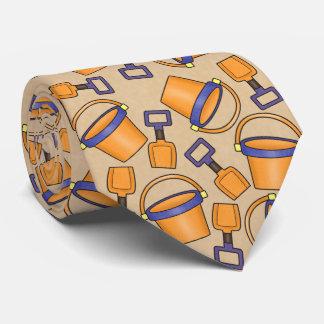 Laço do teste padrão do balde da praia do gravata