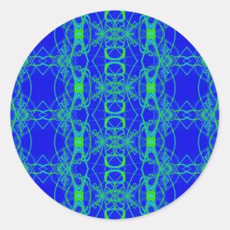 laço do verde azul adesivos redondos
