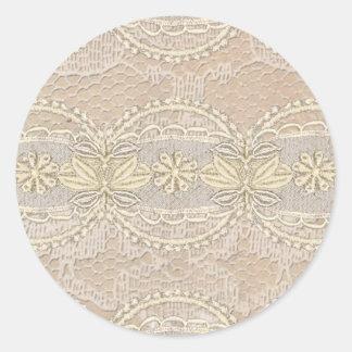 Laço do vintage adesivos em formato redondos