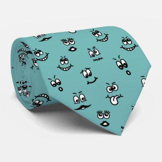 Laço engraçado das caras dos desenhos animados gravata