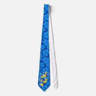 laço engraçado dos peixes dos desenhos animados gravata