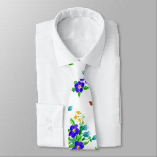 Laço floral personalizado gravata
