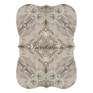 Laço glamoroso do cristal de rocha de Gatsby do Convite 12.7 X 17.78cm