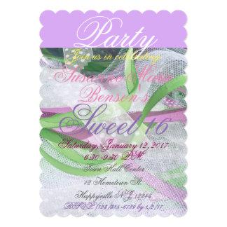 Laço, lavanda, rosa, convite do Partido Verde