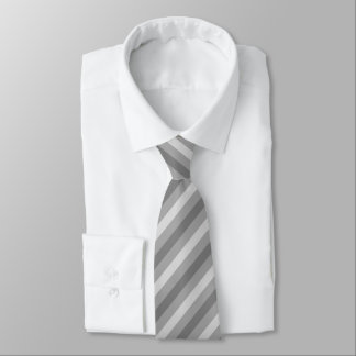 Laço listrado cinzento gravata