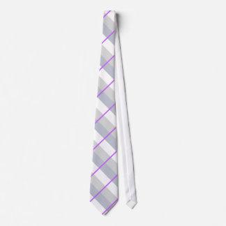 Laço listrado cinzento/roxo gravata