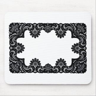 Laço preto & branco os presentes de Zazzle do MUSE Mouse Pads
