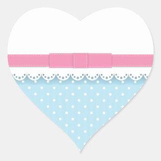 Laço Rosa Adesivo Coração