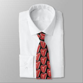 Laço telhado teste padrão da churrasqueira do gravata
