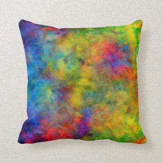 [Laço-Tintura atômica] cores psicadélicos do Almofada