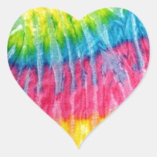 Laço-Tintura de Boho do Hippie Adesivo Em Forma De Coração