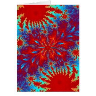 laço-tintura do fractal cartão