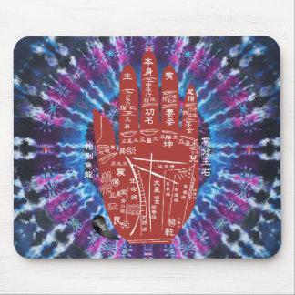 Laço-Tintura Mousepad da leitura da palma de