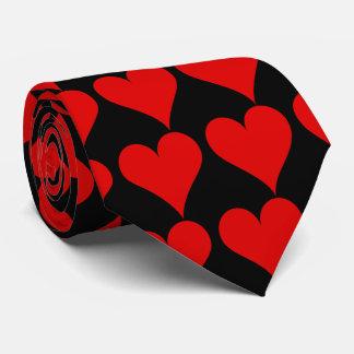 Laço vermelho do coração gravata