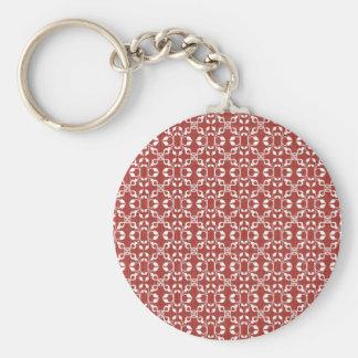 Laço vermelho e branco decorativo chaveiro