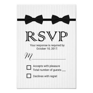 Laços alegres RSVP clássico do dobro do casamento Convite 8.89 X 12.7cm
