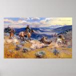 Laços de Charles M. Russell e Cavalo rápido (1916) Posters