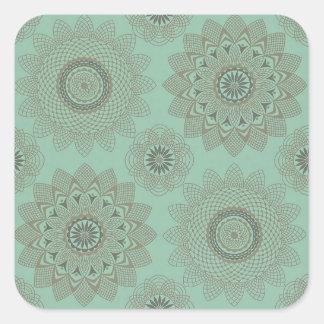 Laços florais adesivo quadrado