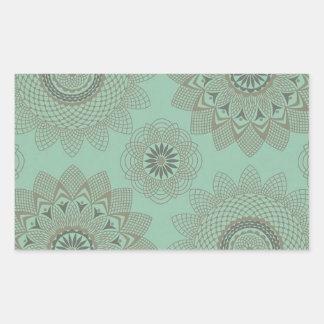 Laços florais adesivo retangular