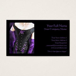 Laços roxos - cartão de visita