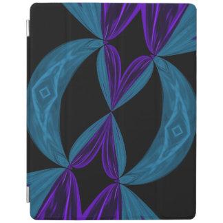 Laços roxos do ADN do preto do Aqua Capa Smart Para iPad