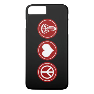 Lacrosse do amor da paz - caso do iPhone 7 Capa iPhone 7 Plus