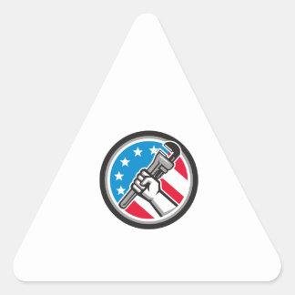 Lado Circ angular da bandeira dos EUA da chave de Adesivo Triangular
