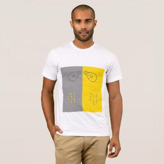 Lado claro escuro do lado v/s camiseta