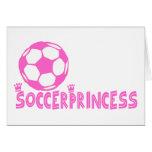 Lado da princesa 2 do futebol cartão comemorativo