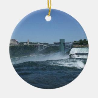 Lado do búfalo de Niagara Falls Ornamento De Cerâmica Redondo